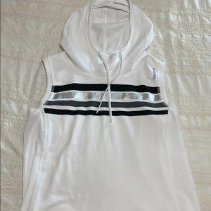 Reebok sleeveless hooded top